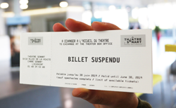 Billet suspendu